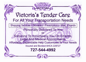 Victorias Tender Care postcard